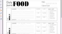 Struggling with your eating habits? Want to track your meals and keep an eye on your calorie and nutrition intake? Eating tooo much during the pandemic? Yes, most of us are! This simple daily food journal will help you eat mindfully by logging your meals, tracking what drives you to eat and your satiety level for each meal, and having a detailed and total view on the nutrition consumption and calorie intake throughout the day. ⚘ Diet Planner, Fitness Planner, Fitness Journal, Food Journal, Clean Eating Tips, Eating Habits, Diary Template, Mood Tracker, Minimal Design