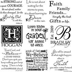 Tons of fonts, sayings and verses for all occasions.