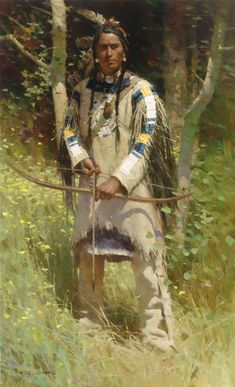 Z.S. Liang paints historical scenes of American Indian life ...