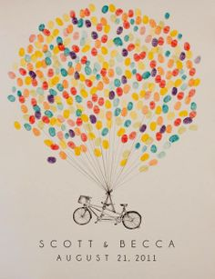 Bridal shower guest book idea? Thumbprints for the bride to keep