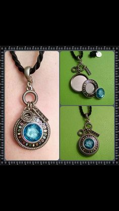 Charm pendant, Sundial Halo insert, & Acrylic Flower Turquoise Bittie insert. www.kathypeck.magnabilities.com