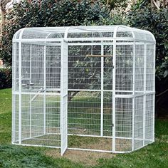 Bestmart INC Large Iron Wire Bird Flight Cage Parrot Cockatiel Macaw Finch Walk in Aviary Pet Supply White - Pets - Boutique Closet Luxury - Pet Fashion Flight Cage, Cages For Sale, Small Shed Plans, Large Bird Cages, Pet Boutique, Reptile Accessories, Pet Safe, Small Birds, Pet Birds