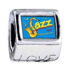 Music Jazz Photo Love Charms  Fit pandora,trollbeads,chamilia,biagi,soufeel and any customized bracelet/necklaces. #Jewelry #Fashion #Silver# handcraft #DIY #Accessory