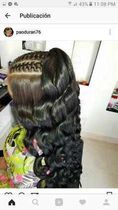 Black Hair Curls, Braids For Black Hair, Girl Hairstyles, Braided Hairstyles, Relaxed Hairstyles, Natural Hair Styles, Long Hair Styles, Wig Styles, Toddler Hair