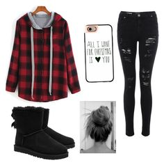 """""""Winter grunge skater outfit"""" by being-perfect-is-a-fantasy on Polyvore featuring UGG Australia and Casetify"""