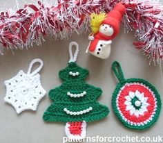 Three Christmas Tree Decorations