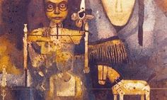 Ganesh Pyne painting: The Wooden Horse (1997)