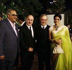 Sridevi and Steven Spielberg Jurassic Park