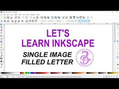 Here I show you how to make an outline of a letter and fill it with single images rather than a pattern as I show in video For your vinyl needs check ou. Computer Help, Computer Tips, Computer Technology, Vinyl Craft Projects, Vinyl Crafts, Inkscape Tutorials, Cricut Tutorials, Vinyl Tumblers