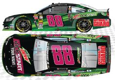 2014 DALE EARNHARDT JR #88 MOUNTAIN DEW KICKSTART SPECIAL PAINT SCHEME