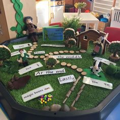 Our Jack and the Beanstalk storytelling tray encouraged us to retell the beginning, middle and end as well as learn vocabulary associated… Fairy Tale Activities, Eyfs Activities, Nursery Activities, Nursery Themes, Activities For Kids, Writing Activities, Traditional Tales, Traditional Stories, Play Based Learning