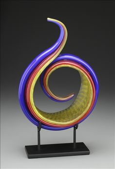 "*Art Glass - ""Curled Frond"" by Ed Branson"