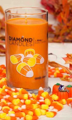 Candy Corn Candle - Discover a ring in every candle.