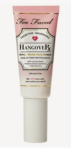 Two Fifty-three: BEAUTY: Too Faced's Hangover Rx Primer. A replenishing face primer that hydrates, smoothes, and brightens skin for a dewy, healthy looking finish. Perfect for dry winter weather!