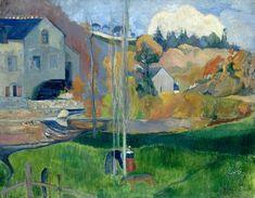 Paul Gauguin: Landscape in Brittany. The David Mill, 1894