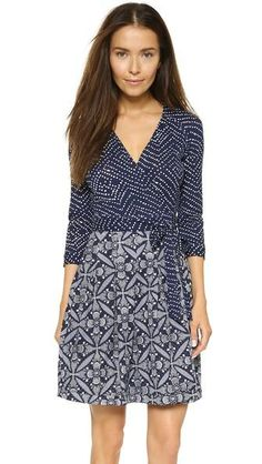 Diane Von Furstenberg Jewel Wrap Dress - Batik/tile Floral Midnight