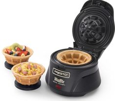 Make thick, fluffy and tender waffles using this Presto Belgian Waffle Bowl maker. Cool Kitchen Gadgets, Kitchen Items, Kitchen Tools, Cool Kitchens, Kitchen Appliances, Kitchen Dining, Small Appliances, Cool Gadgets, Gizmos And Gadgets
