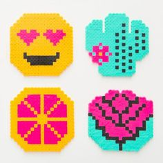 Get your bead game on with a perler bead ornament set.