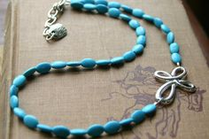 Oval Turquoise Western Cowgirl Necklace by cowgirlrelicsdesigns, $15.00