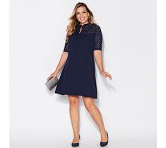 Rozšířené šaty se 3/4 rukávy | modino.cz  #ModinoCZ #modino_cz #modino_style #style #fashion #dress Zara, Dresses For Work, Sexy, Products, Fashion, Women's Work Fashion, Women's, Minimal Dress, Sophisticated Style