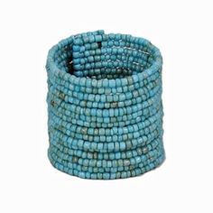 Tall Beaded Cuff - Turquoise, $16.00
