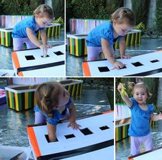 Cardboard Sensory Boxes for Toddlers and Babies - Meri CherryTap the link to check out great fidgets and sensory toys. Happy Hands make Happy People! Indoor Activities, Sensory Activities, Infant Activities, Activities For Kids, Baby Sensory, Sensory Play, Toddler Play, Baby Play, Baby Lernen