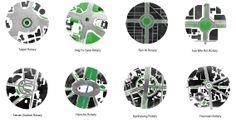 Taiwan Watercolour maps.  Architecture  Presentation.