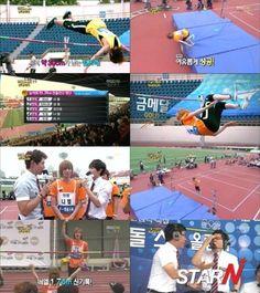 TEEN TOP's Niel breaks SHINee Minho's record in high jump on 'Idol Star Olympics'