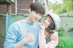 Lee Jong-suk showed loyalty for Lee Sung-kyung and his recent drama 'W'. He made a cameo appearance in the new MBC drama 'Weightlifting Fairy Kim Bok-joo'. Nam Joo Hyuk Lee Sung Kyung, Jung Suk, Lee Jung, Weightlifting Kim Bok Joo, Weighlifting Fairy Kim Bok Joo, Kyun Sang, Joon Hyung, Kim Book, W Two Worlds