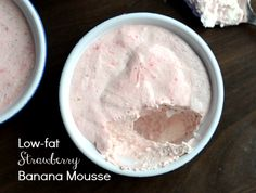 Low fat strawberry banana mousse