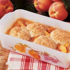 BEST AND EASIEST!!!!   Peach Cobbler for Two Recipe