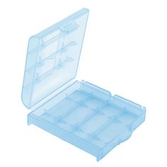 AAA/AA Plastic Case Holder Storage Box (White+Purple+Blue+Green)