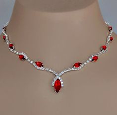 RUMBA RHINESTONE RED JEWELRY SET