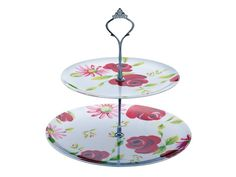 Beautiful China effect melamine 2 tier cake stand. Virtually unbreakable. Wonderful for afternoon tea outside. £8.00