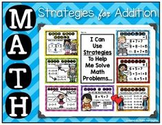 Maths Posters Addition Strategies Make+a+Ten Doubles Doubles+plus+One Doubles+minus+One Part+Part+Whole Turn+Around+Fact Zero+Fact  There+is+also+a+page+included+where+all+strategies+are+combined.