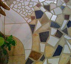 "Mosaic Tile Floor Section by ""Originals by Rhonda"" on Facebook :: Hometalk"