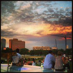 Austin sunset at the Long Center