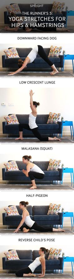Yoga Stretches for hips and harmstrings for runners