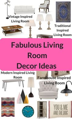 "No matter your style, or even if you don't have a specific ""style"", there's something for everyone in these fabulous living room decorating ideas!"