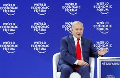 srael's Prime Minister Benjamin Netanyahu gestures as he speaks the World Economic Forum (WEF) annual meeting in Davos, Switzerland January 2018 A Question Of Time, Isaiah 17, Benjamin Netanyahu, Israel News, Davos, World Economic Forum, Annual Meeting, Us Presidents, Angela Merkel
