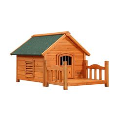 Dog House Pup Furniture Porch, Small, Solid Wood White Cedar, Brown *** Insider's special review you can't miss. Read more  (This is an amazon affiliate link. I may earn commission from it)