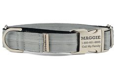 Source for custom designer dog collars, martingales, and leashes made to order to fit your dog's unique size, shape, and style.