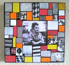 Mosaic Photo Picture Frame by JanetsMosaics on Etsy, $25.00