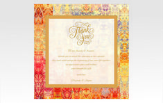 10 Invitations India Luxury Quality Card Collection Personalised - By Gold Leaf Design Studios - New Delhi Thank You Notes, Thank You Cards, Wedding Stationery, Wedding Invitations, Design Studios, Table Cards, Wedding Programs, Save The Date Cards, Leaf Design