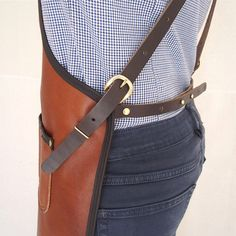 Handcrafted leather apron The crafts person by StudioBT on Etsy