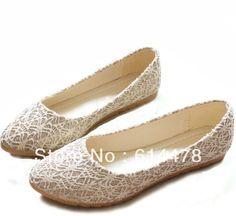2014 nouveau style de mode décoration lacet plat  fond princesse, unique chaussures de demoiselle mariées dans  de  sur Aliexpress.com