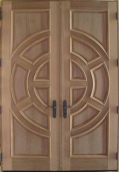 New wooden glass door design woods Ideas Wooden Glass Door, Wooden Front Door Design, Wooden Double Doors, Double Door Design, Double Front Doors, Wood Front Doors, Wooden Doors, Solid Doors, Room Door Design