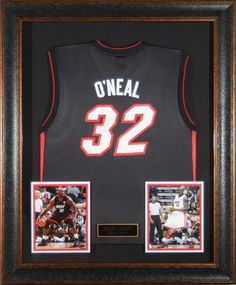 3231001f26a Shaquille O Neal Autographed Jersey - Miami Heat Framed
