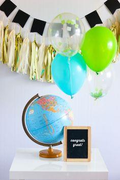 School Colors Confetti Balloons #DIY