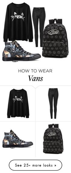 """Wans"" by helenapictures on Polyvore featuring Converse, Vans and Topshop"